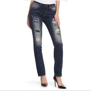 Remix by Rock Revival distressed straight leg jean